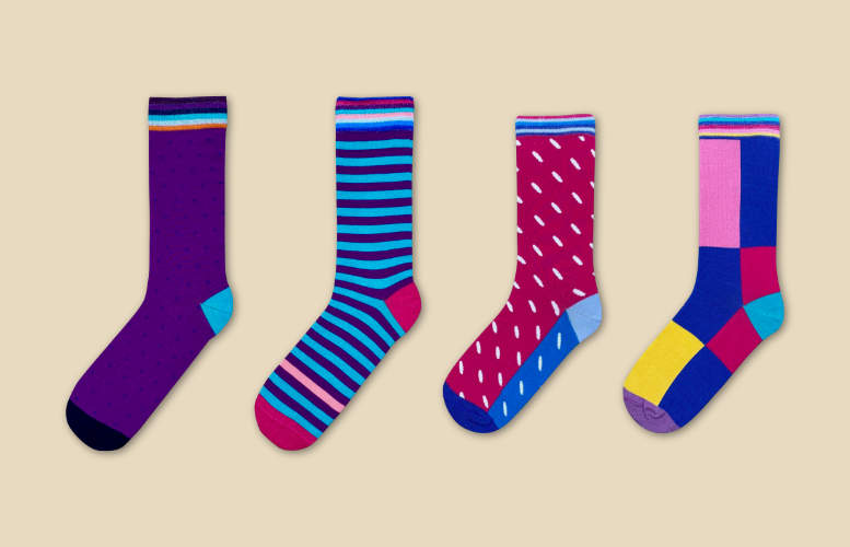 Socks subscription gift for couples. Bamboo socks every month