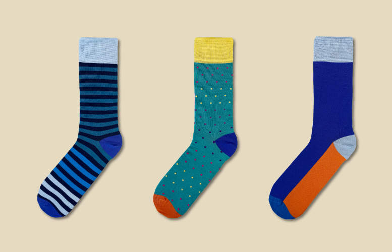 Men's socks - Rolling subscription - Monthly - 2 pairs per month