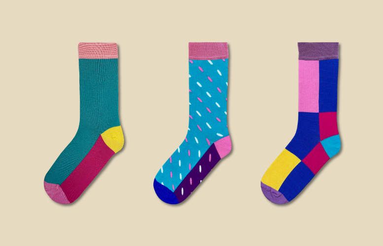 Women's socks - Monthly gift subscription - 3 months - 2 pairs per month