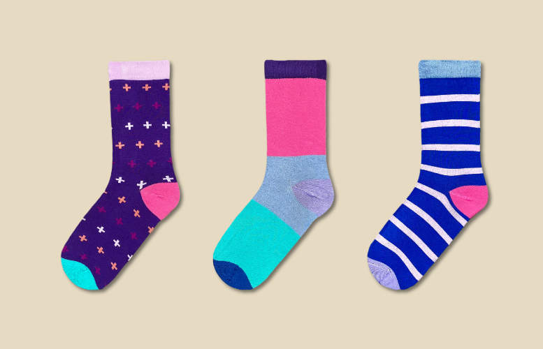 Women's socks - Monthly gift subscription - 3 months - 1 pair per month